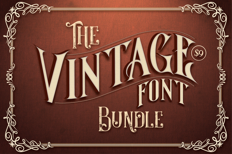 Download The Vintage Font Bundle By TheHungryJPEG | TheHungryJPEG.com