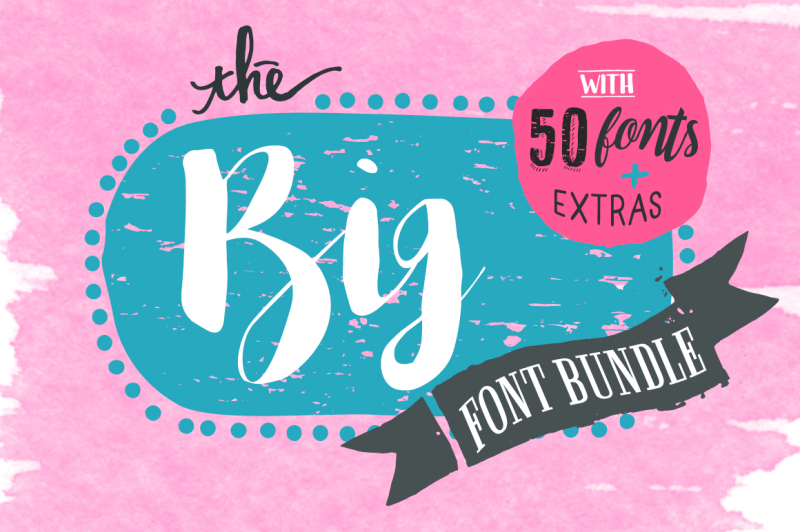 Download The Big Font Bundle By TheHungryJPEG | TheHungryJPEG.com