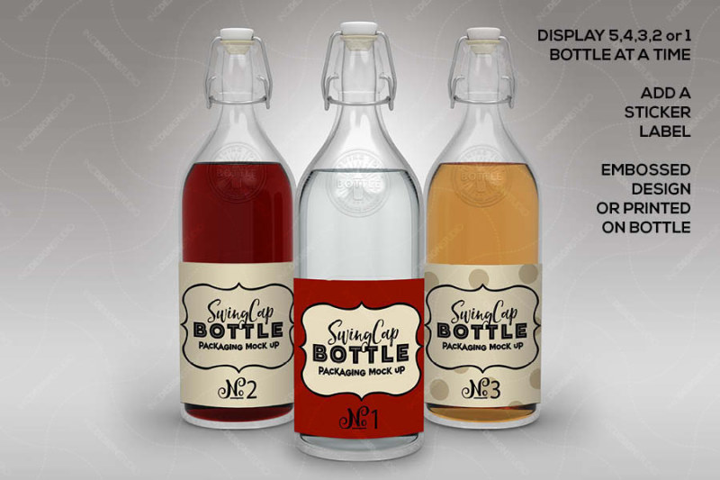 Download Glass Bottle With Red Organic Oil Mockup Yellowimages