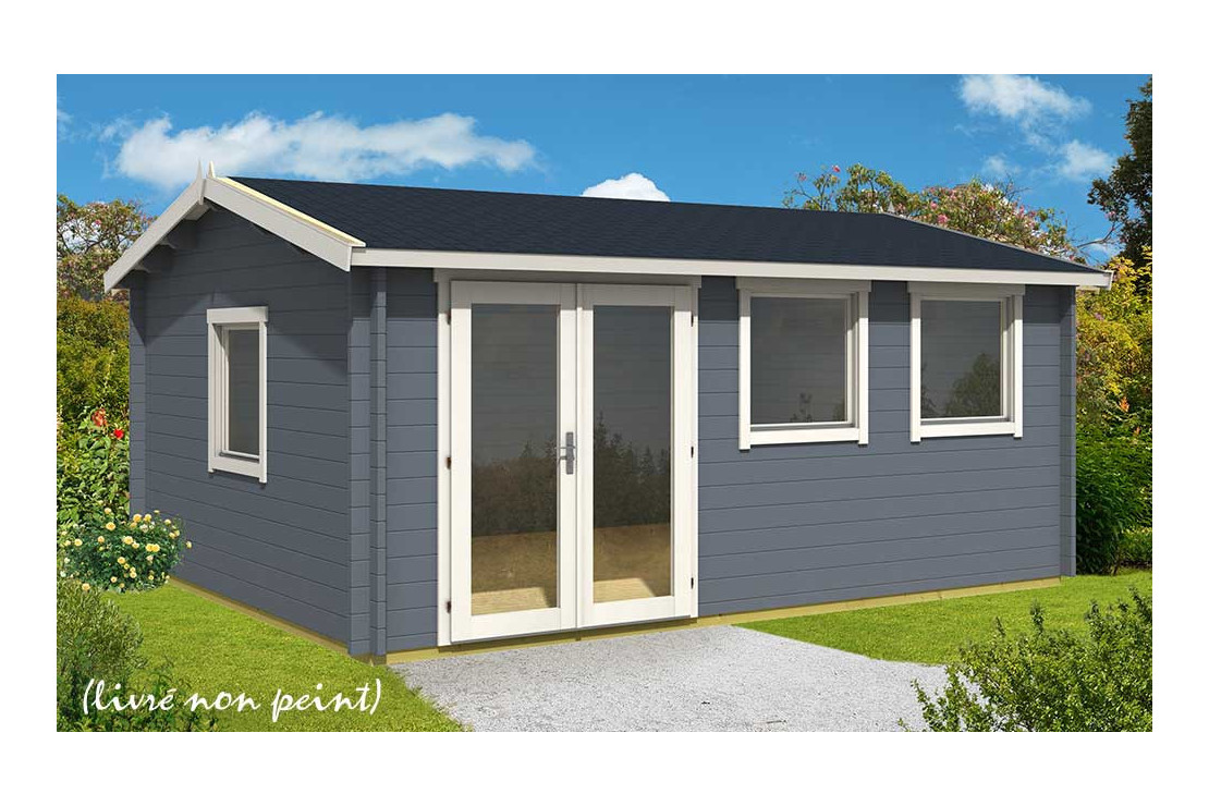 abri de jardin nice 44 mm sans plancher 19 1m interieur