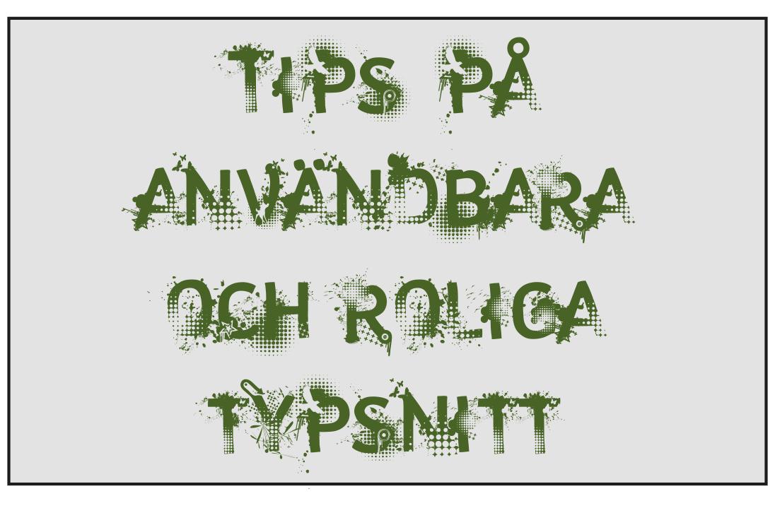 Tips på typsnitt