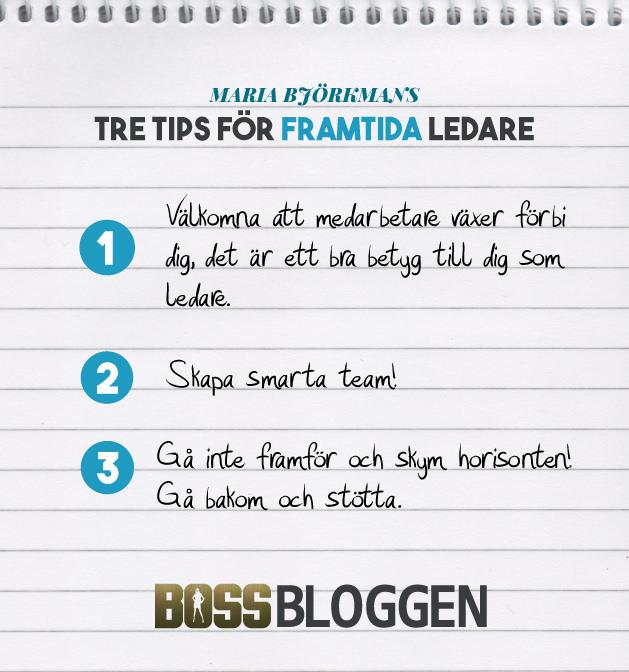 Tips på ledarskap Maria Björkman
