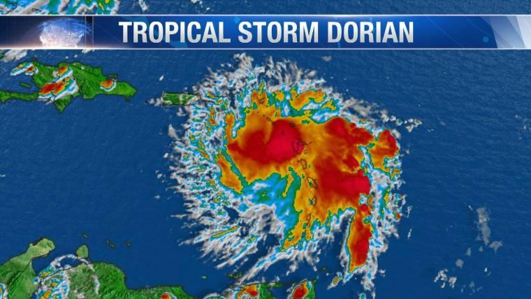 tropical storm dorian could