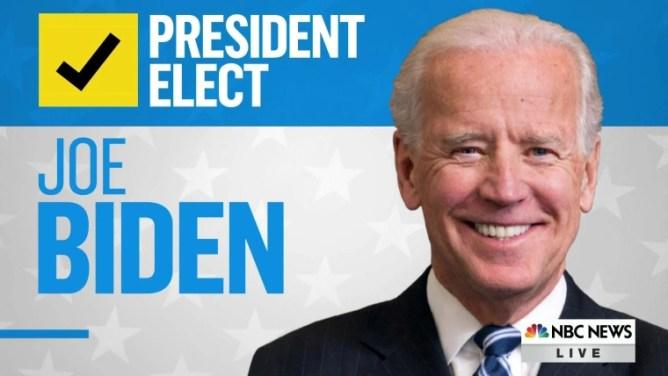 NBC News projects Joe Biden will be the president-elect