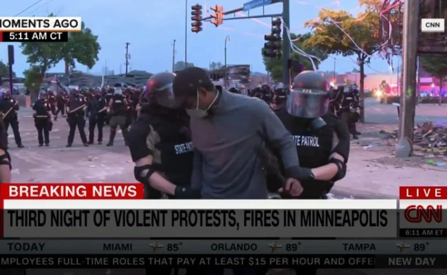 Cnn Reporting Crew Arrested Live On Tv By Minnesota State