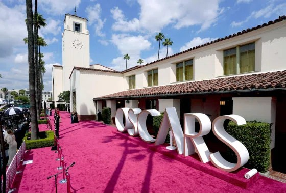 Image: The red carpet at the Oscars
