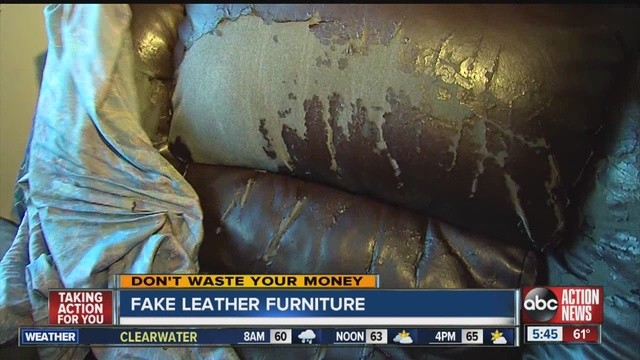 Woman's 'leather' Couch Peels Apart After 3 Years Abcactionnews