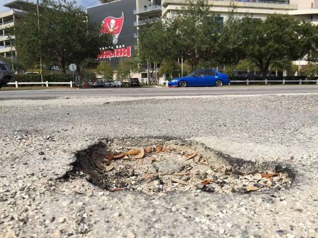 Image result for tampa pothole
