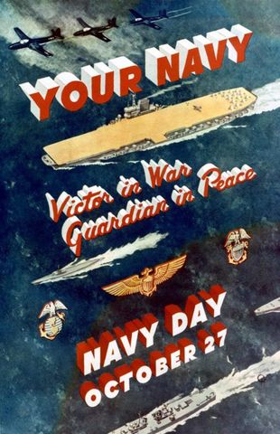 Navy Day Poster from after World War II (?)