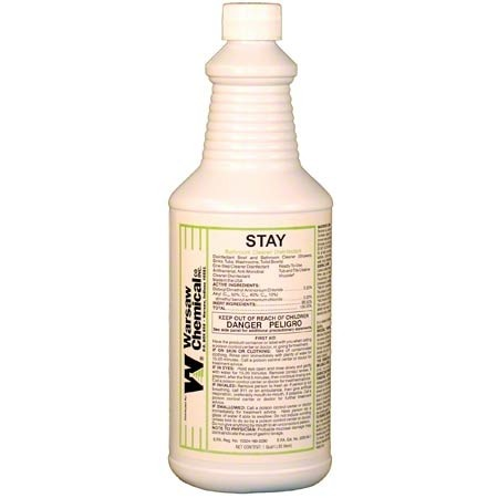 warsaw stay bathroom tub and tile cleaner 12 quarts case