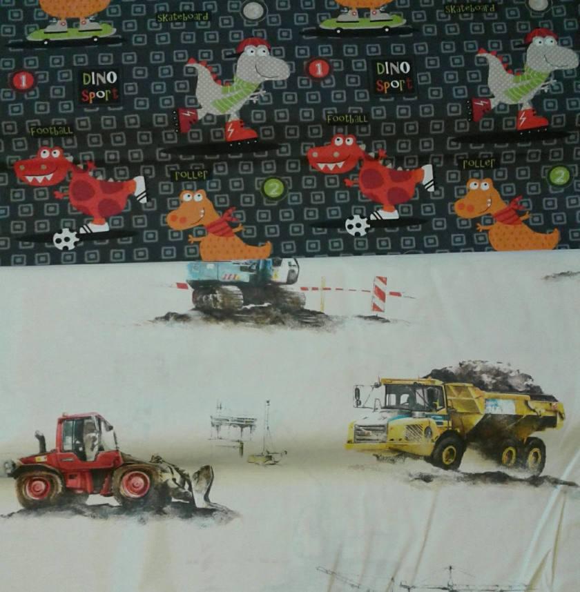 Barntyg dinosaurier och traktorer