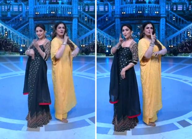 Dance Deewane 3: Madhuri Dixit and Raveena Tandon groove to 'Dhak Dhak' and 'Tip Tip Barsa Paani', watch video
