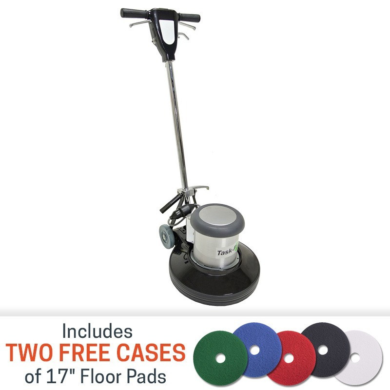 TaskPro 17 inch 15 HP Floor Buffer with 2 FREE Cases