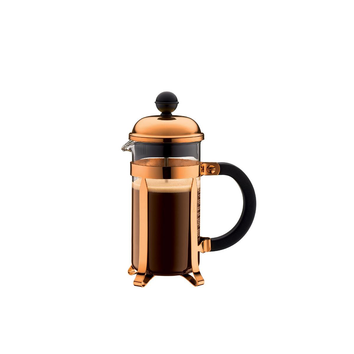 cafetiere a piston cuivree chambord 3 tasses bodum