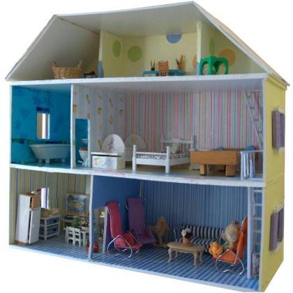 Fabriquer Maison De Poupe En Carton Plume Ides Et