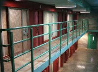 A cell block at Tamms on the day the supermax was dedicated in March 1998