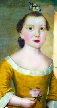 A portrait of Jane Flagg Greene, known as Jenny, Jane Mecoms granddaughter and namesake.