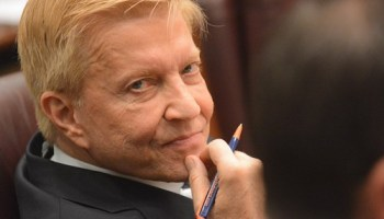 Alderman Bob Fioretti at the November city council meeting at which Mayor Emanuel's budget passed over his objection. Fioretti said then that the budget would