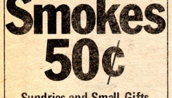 Chicago Reader @ Forty ads from the past: All Smokes 50 cents