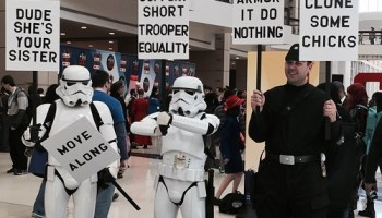 Dressing like a Stormtrooper is basically socially acceptable at this point.