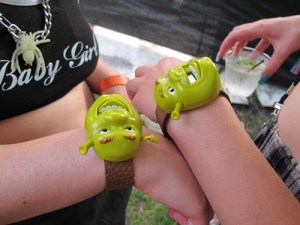 Every time they put these Shrek watches together they travel to a different dimension.
