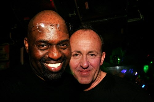 Frankie Knuckles and Danny Rampling at the Def Mix 20th Anniversary Weekender in 2007