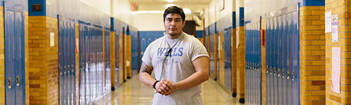Guillermo Soto, a Wells security guard, graduated from the school in 2009. Disputes at the school usually arent along racial lines, he says, but taunts sometimes are.
