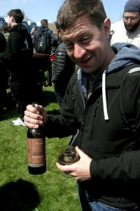 I didnt get this gentlemans name, but the Deschutes Abyss he shared was my first beer of the day.
