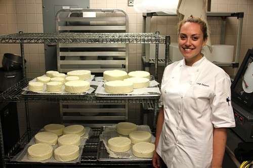 Leigh Omilinsky of Cafe des Architectes with brie—which they dont make any more
