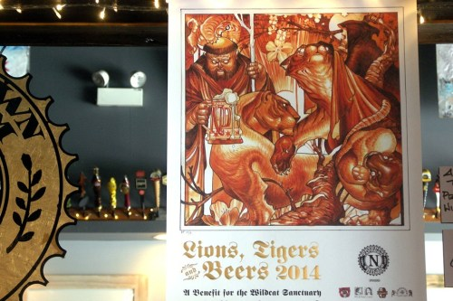 Lions, Tigers and Beers poster with art by Tim Biedron of Pioneer Tattoo. These will be for sale.