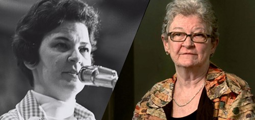 Mary Jean Collins, then and now.