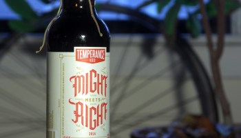 Might Meets Right imperial stout aged in High West manhattan barrels, one of the two beers in Temperances first bottle release