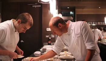 Next executive chef Dave Beran on the line (right).