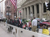 Occupy Chicago protesters on LaSalle Street in late September