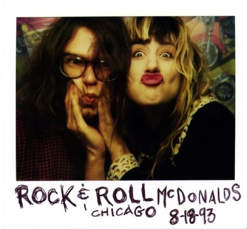 Ronnie Barnett and Kim Shattuck, aka two-thirds of the Muffs, the year before the release of Happy Birthday, Baby Jesus: The Second Coming