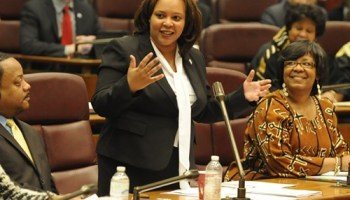 Seventh Ward alderman Natashia Holmes will have to survive a ballot challenge and nine opponents to hold onto her seat.