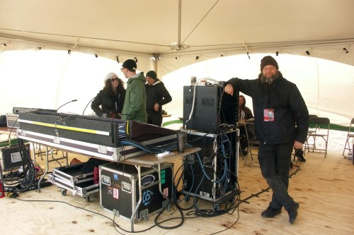 Sound engineer Elliot Dicks (right) can do things with this gear that make angels weep.