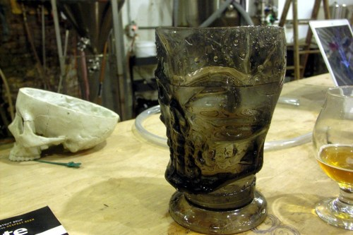 Thankfully this skull mug is made of plastic, so it doesnt weigh nine pounds.