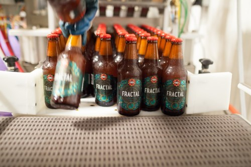 Thats rinse water on those bottles of Fractal, not condensation. The Penrose folks arent crazy enough to heat their brewery like that.