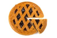 The delicious circumference of this pie = π x its delicious diameter