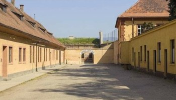 The entrance to the Theresienstadt concentration camp