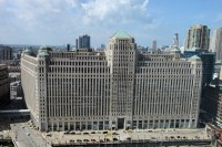 The Merchandise Mart, scene of this mornings dramatic escape