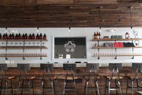 The Penrose tap room in Geneva opened on Tuesday, March 18. Big thanks to its manager, Jeff Cagle, for all the photos in this post.
