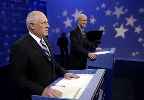 Democrat Pat Quinn and Republican Bruce Rauner have raised almost $100 million in their bitter race for governor.