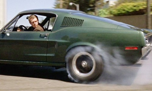 Steve McQueen in Bullitt, which contains one of the most famous chases in movie history