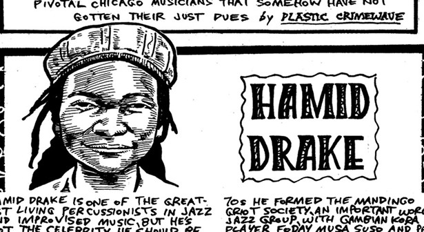 Hamid Drake drums around the world, but he's not a star at