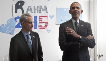 Wouldnt Rahm just love to announce Obamas library is coming to Chicago?
