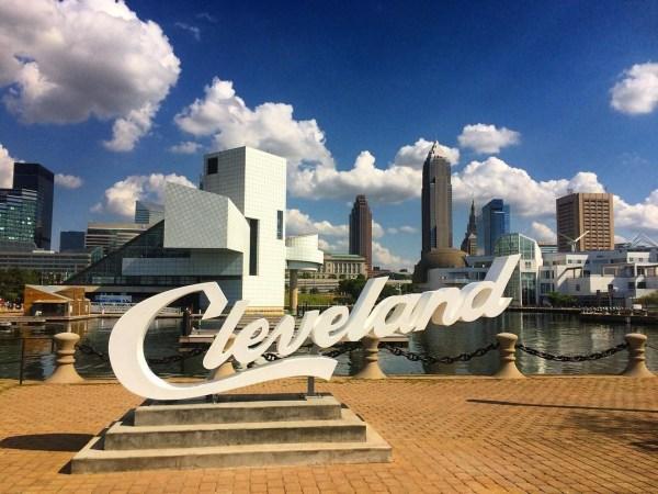 Cleveland Script Sign