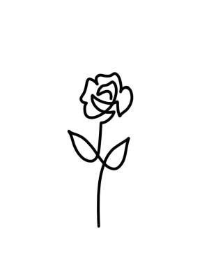 tattoo rose simple drawing outline tattoos line roses flower ink drawings designs clipart basic clipartmag assault survivors raise detroit sexual