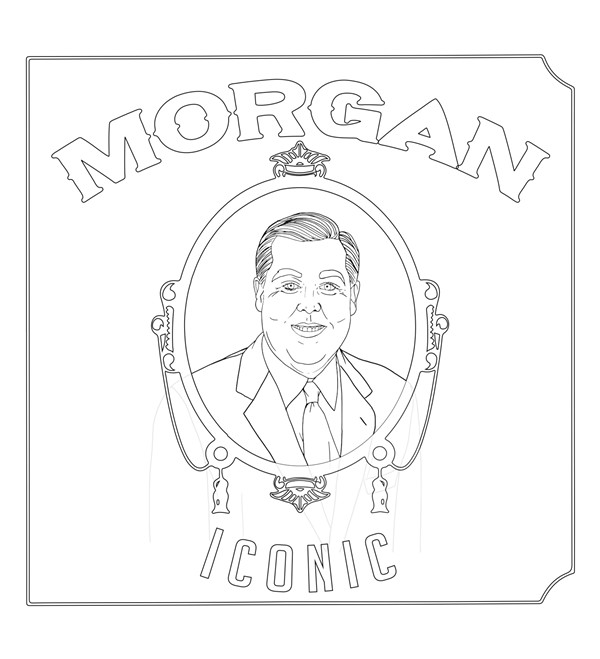 Color in this picture of John Morgan as Dr. Dre's 'The